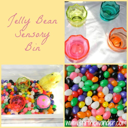 Jelly Bean Sensory Bin | Stir the Wonder #kbn #sensory #easter