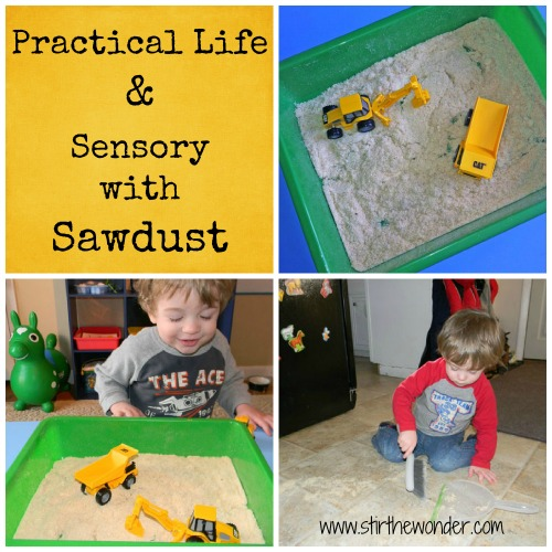 Sawdust Sensory Bin | Stir the Wonder #kbn #sensory