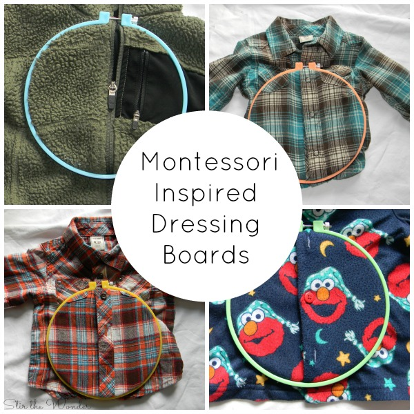 These Montessori Inspired Dressing Boards couldn't be easier to make!