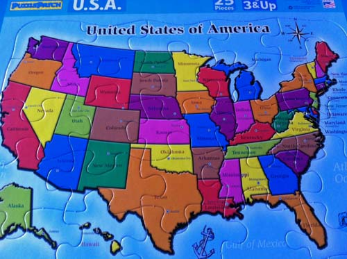 United States Map Puzzle US States And Capitals Free Software - Us map puzzle for toddlers