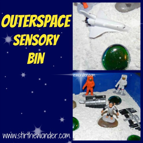 Outer Space Sensory Bin | Stir the Wonder #kbn #sensory #space #moon