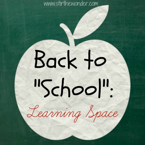 "Stir the Wonder | Back to ""School"": Learning Space"