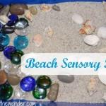 Beach Sensory Bin | Stir the Wonder #kbn #sensory #beach