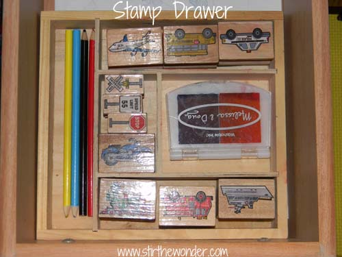 stamp drawer