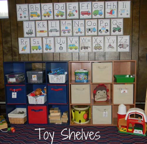 toy shelves