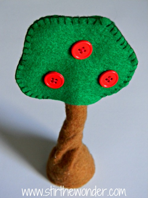 Felt Apple Trees for Small World Play