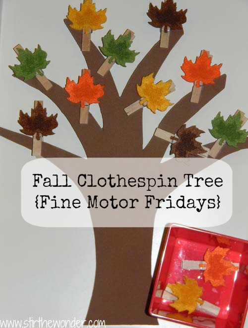 Fall Clothespin Tree- Stir the Wonder