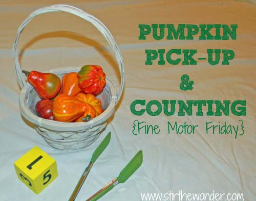 Pumpkin Pick-Up & Counting - Stir the Wonder