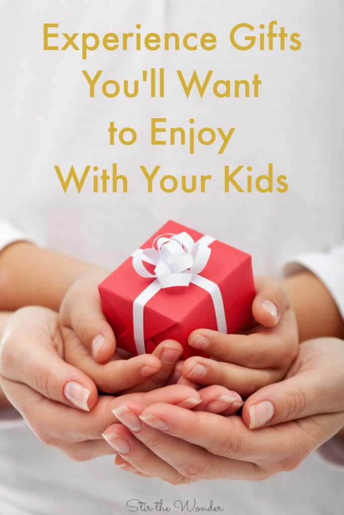 Experience gifts are...not toys, but gifts that keep on giving and usually involve some hands-on learning or visiting a fun place and best of all the gift of quality time with the kids you love. In this post, I am sharing my ideas for experience gifts for kids and some great resources to find great experience gifts near you!