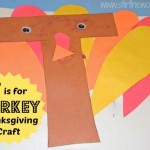 T is for Turkey Thanksgiving Craft | Stir the Wonder