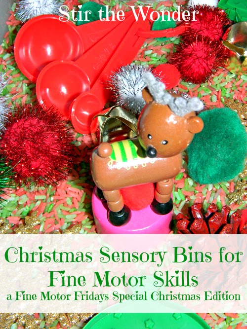 Christmas Sensory Bins for Fine Motor Skills