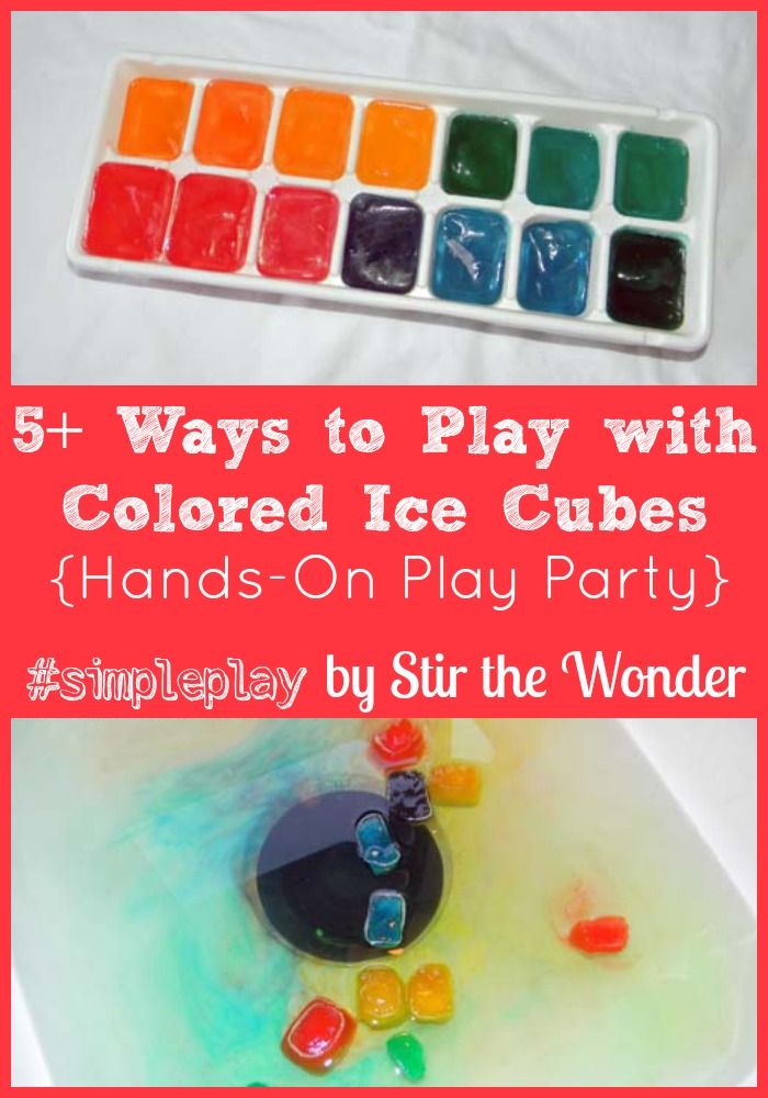 Simple Play with Colored Ice Cubes {Hands-On Play Party} | Stir the Wonder #kbn #handsonplay #simpleplay
