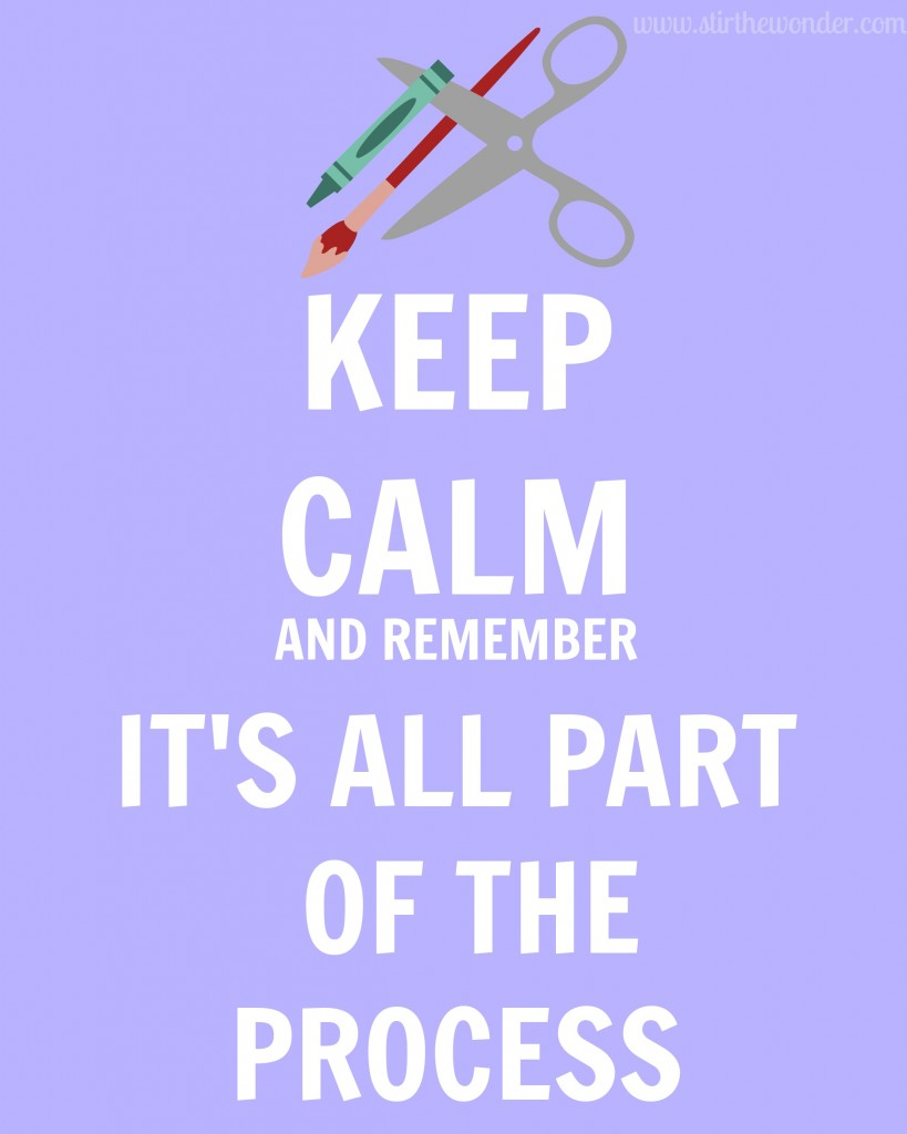 Keep Calm and Remember It's All Part of the Process