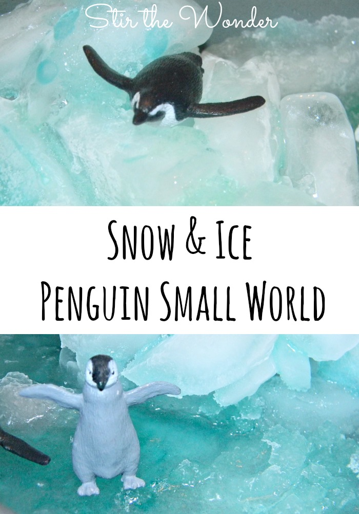 Bring the snow inside & make your own penguin habitat! Keep it in the freezer for a rainy day!