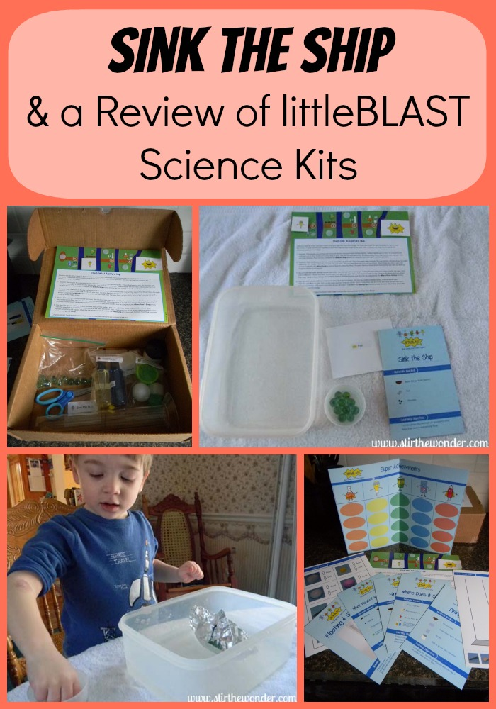Sink the Ship & a Review of littleBLAST Science Kits | Stir the Wonder #science #preschool #kbn