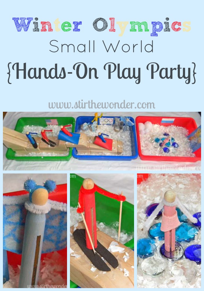 Winter Olympics Small World | Stir the Wonder #kbn #handsonplay #smallworld