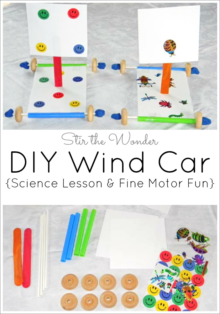 DIY Wind Car: Science Lesson & Fine Motor Fun
