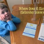 Where Does it Stop? {Saturday Science} | Stir the Wonder #kbn #saturdayscience #science #preschool