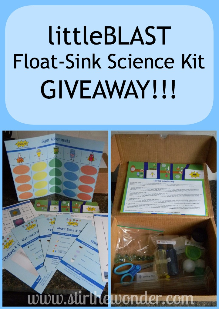 littleBLAST Float-Sink Science Kit Giveaway! | Stir the Wonder #giveaway #preschool #science