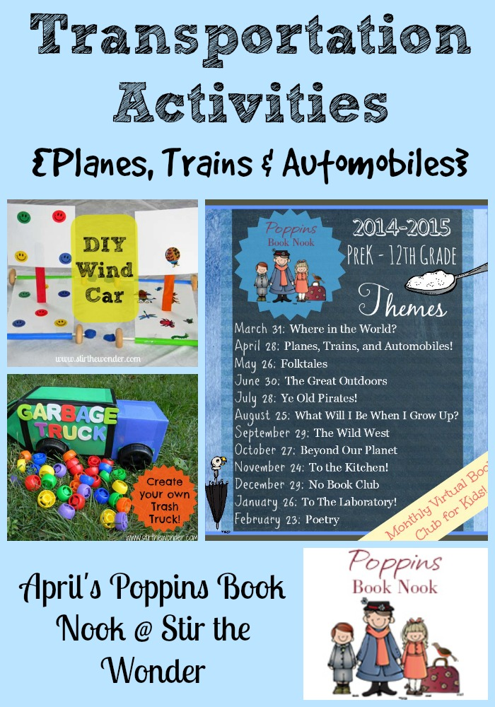 Transportation Activities for April's Poppins Book Nook