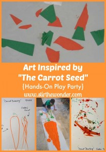 Art Inspired by The Carrot Seed {Hands-On Play Party} | Stir the Wonder