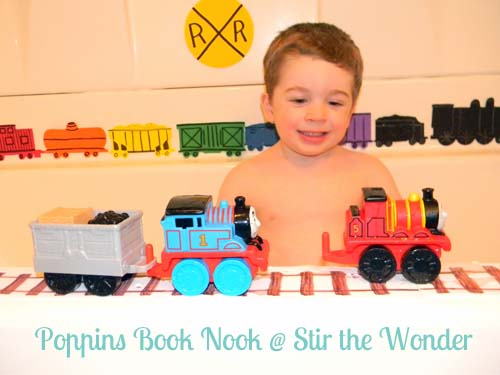 Freight Train Bath {Poppins Book Nook} | Stir the Wonder