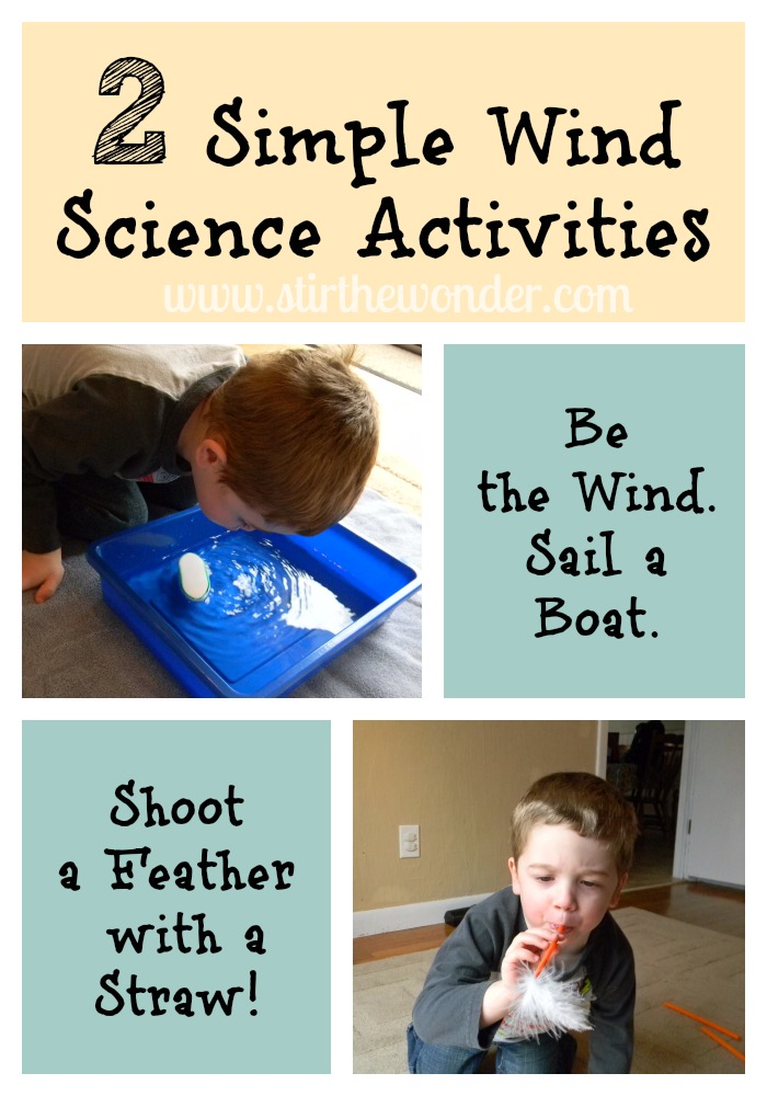 2 Simple Wind Science Activities {Saturday Science} | Stir the Wonder #kbn #preschool #saturdayscience