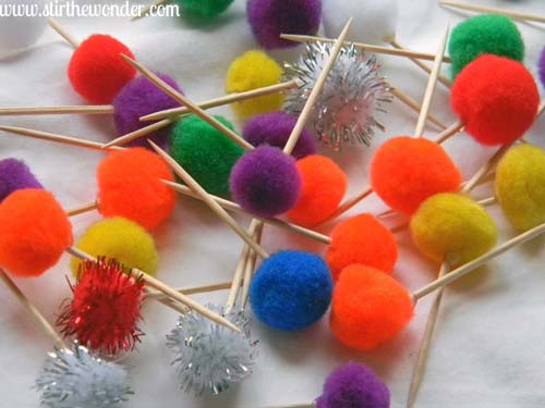 DIY Colorful PomPom Toothpicks | Stir the Wonder
