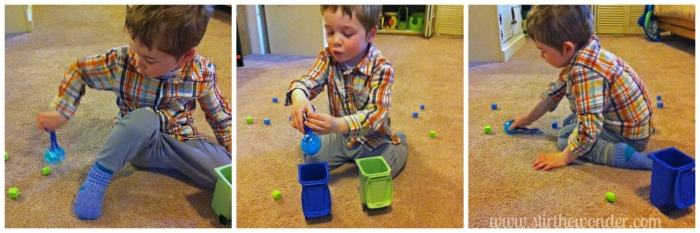 Recycling Sort: a Fine Motor Game