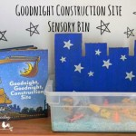 Goodnight Construction Site Sensory Bin