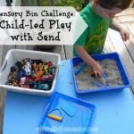 Sensory Bin Challenge: Child-led Play with Sand | Stir the Wonder #sensory #kbn #childled