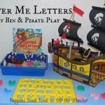 'Shiver Me Letters' Sensory Bin & Pirate Play | Stir the Wonder #poppinsbooknook #kbn #preschool