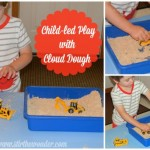 Child-led Play with Cloud Dough