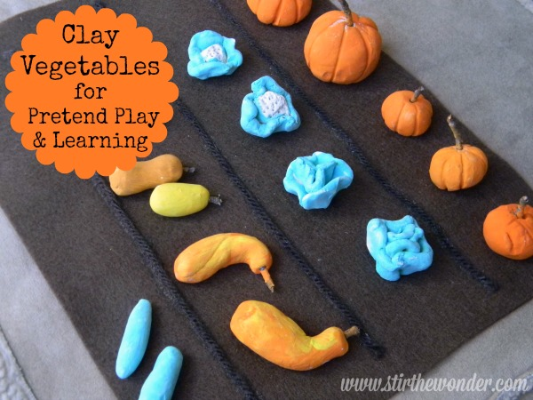 Clay Vegetables for Pretend Play & Learning | Stir the Wonder