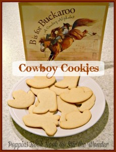 B is for Buckaroo- Cowboy Cookies | Stir the Wonder #poppinsbooknook