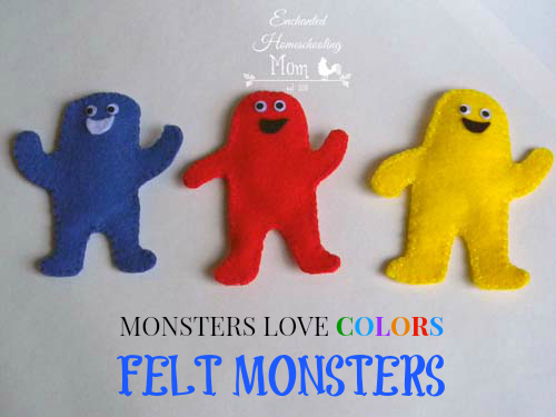 Monsters Love Colors Felt Monsters