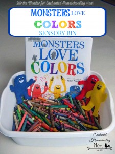 Monsters Love Colors Sensory Bin