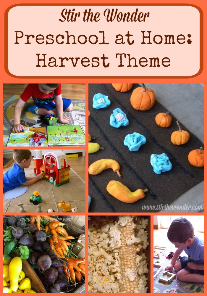 Preschool at Home: Harvest Theme | Stir the Wonder #kbn #preschool #fall #autumn