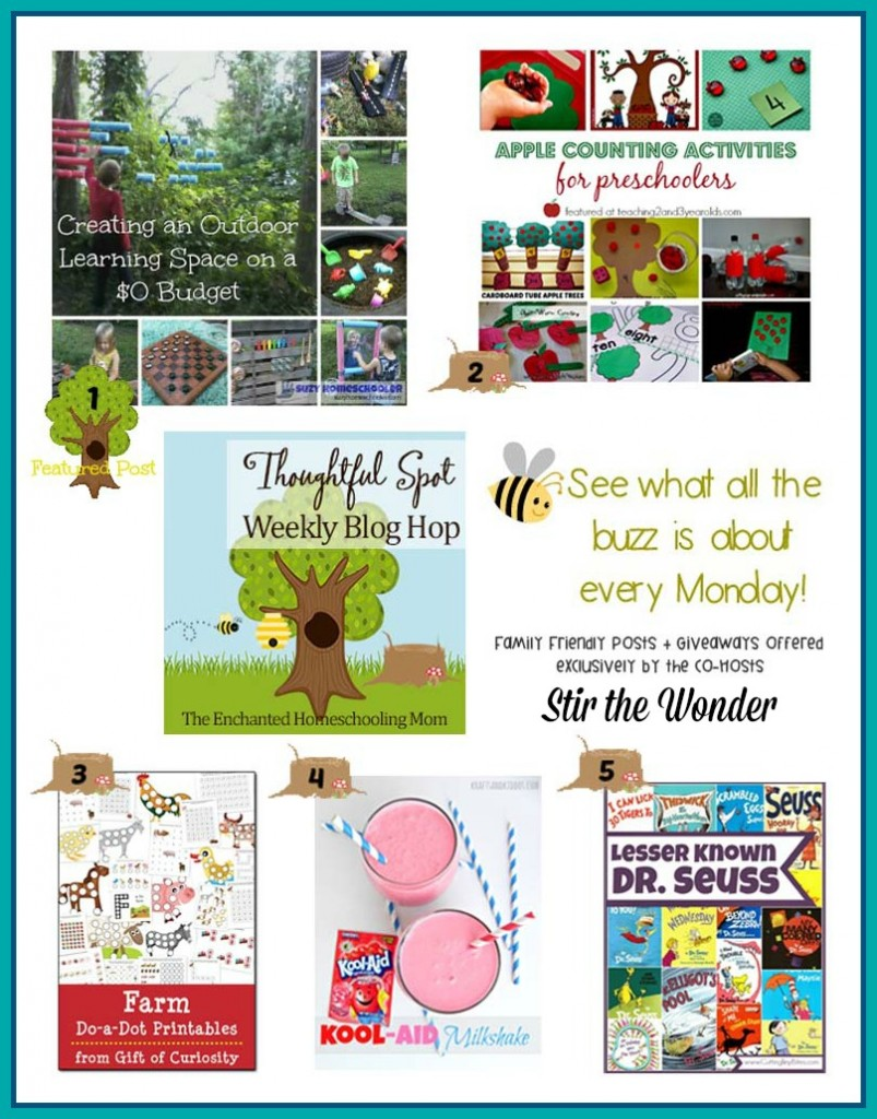Thoughtful Spot Weekly Blog Hop #54 | Stir the Wonder #kbn #thoughtfulspot #homeschool #preschool
