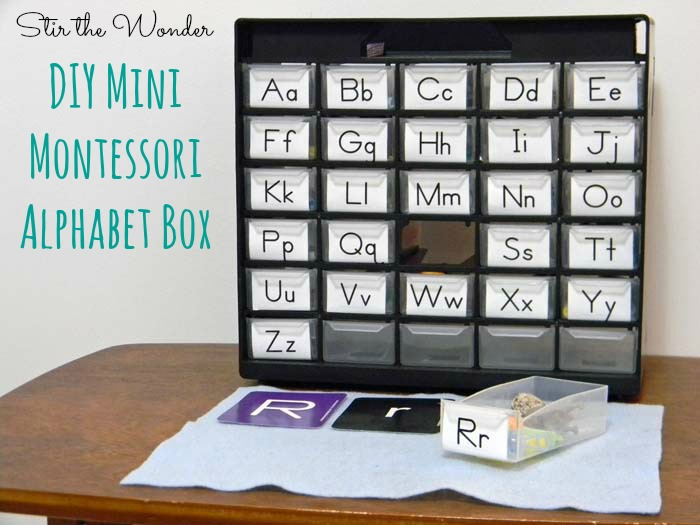 DIY Mini Montessori Alphabet Box | Stir the Wonder