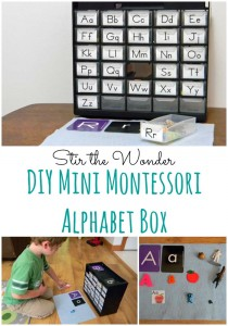 DIY Mini Montessori Alphabet Box