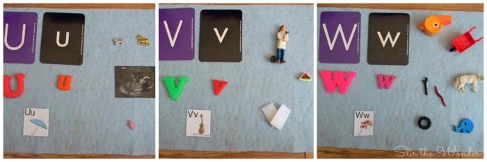 Letters U-W