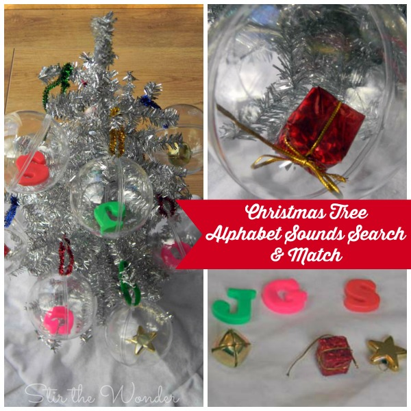Christmas Tree Alphabet Sounds Search & Match 3