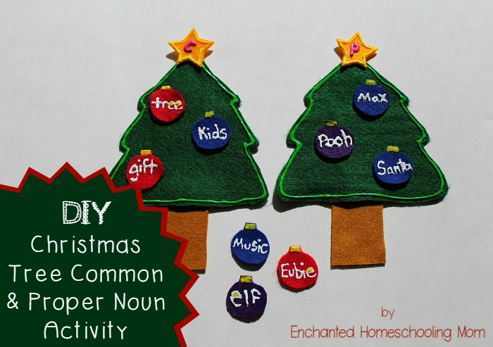 DIY Christmas Tree Common & Proper Noun Activity