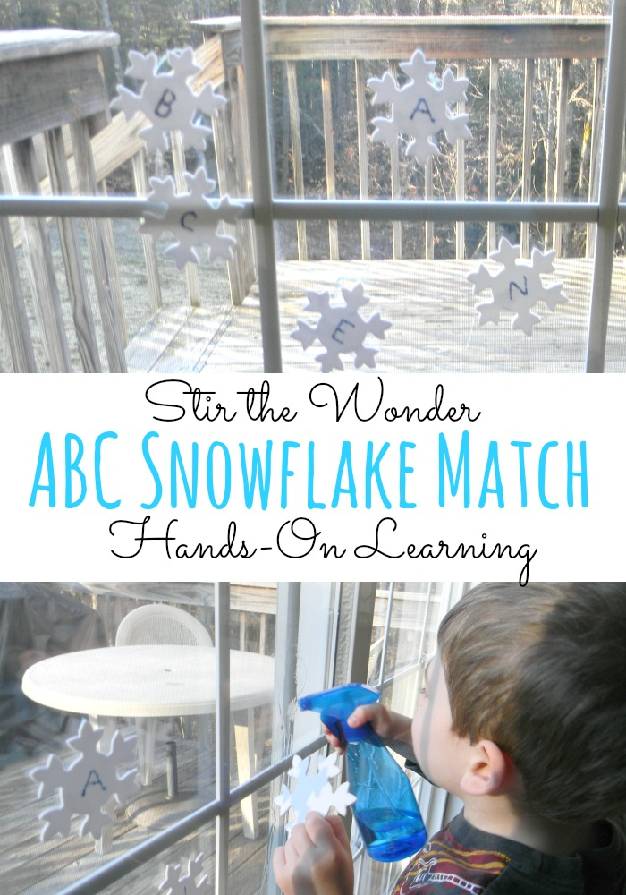 ABC Snowflake Match a fun way for toddlers & preschoolers to practice letter recognition!