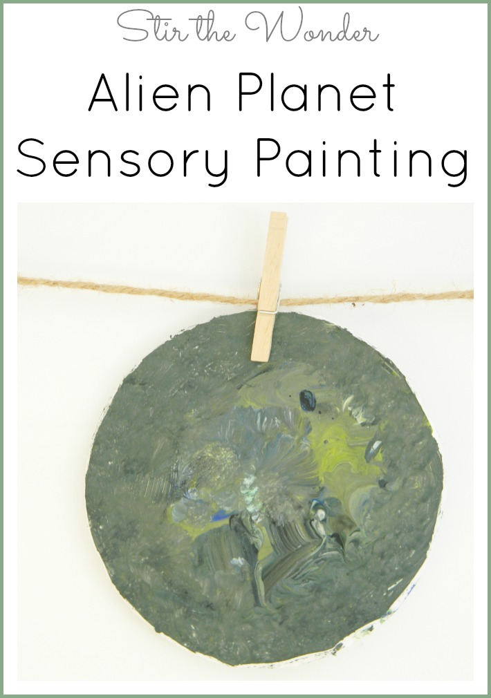 Get the full painting experience by creating your own Alien Planet Sensory Painting | Stir the Wonder