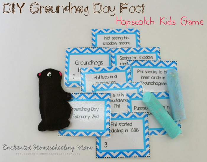 DIY Groundhog Day Fact Hopscotch Kids Game