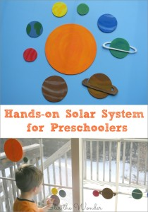 Hands-on Solar System for Preschoolers is a fun way for kids to learn about the planets!