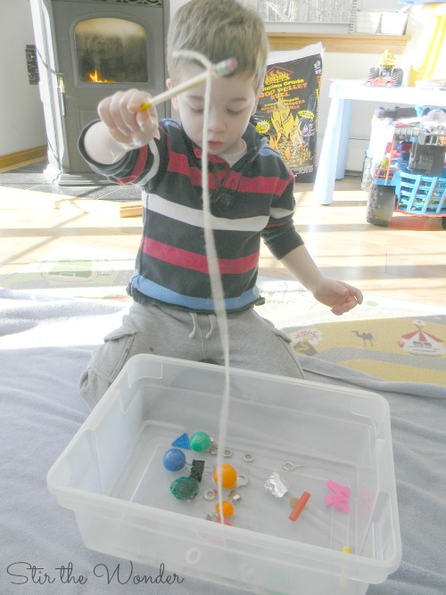 Fishing with Magnets Hands-on Science for Preschoolers