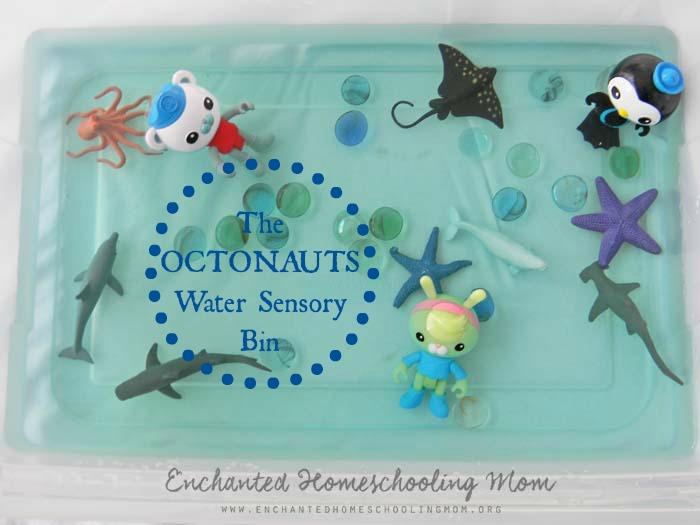 Octonauts Water Sensory Bin 2
